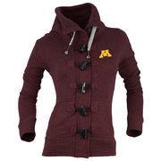 Women's Renu Maroon Minnesota Golden Gophers Nantucket Toggle Zip Jacket