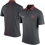 Men's Nike Anthracite Oklahoma Sooners 2015 Coaches Sideline Dri-FIT Polo