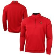 Louisville Cardinals adidas 3 Stripes Piped 1/4 Zip Jacket - Red