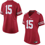 Women's Nike No. 15 Red Ohio State Buckeyes Game Replica Football Jersey