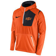 Men's Nike Orange Oklahoma State Cowboys 2016 Sideline Vapor Fly Rush Half-Zip Pullover Jacket