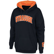 Women's Stadium Athletic Navy Syracuse Orange Arch Name Pullover Hoodie