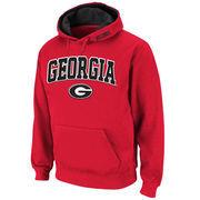 Men's Stadium Athletic Red Georgia Bulldogs Arch & Logo Pullover Hoodie