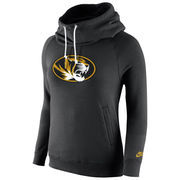 Missouri Tigers Nike Womens Rally Funnel Hood-Rewind Sweatshirt - Black