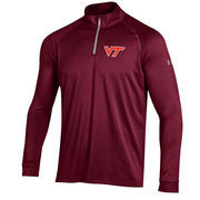 Men's Under Armour Maroon Virginia Tech Hokies 1/4 Zip Performance Top