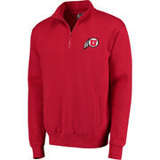 Men's Stadium Athletic Red Utah Utes Logo Quarter-Zip Sweatshirt