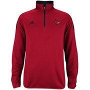 Louisville Cardinals adidas Football Sideline Coaches 1/4 Zip Knit Jacket - Red