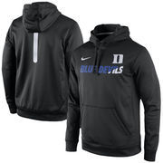 Men's Nike Black Duke Blue Devils Sideline KO Fleece Therma-FIT Performance Hoodie