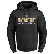 Men's Black Army Black Knights Custom Sport Pullover Hoodie
