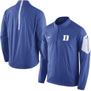 Men's Nike Royal Duke Blue Devils 2015 Football Coaches Sideline Half-Zip Wind Jacket