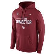 Men's Nike Crimson Oklahoma Sooners 2017 Sugar Bowl Bound Verbiage Pullover Hoodie