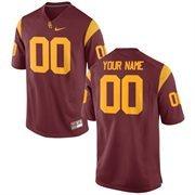 Nike Mens USC Trojans Custom Replica Football Jersey - Cardinal