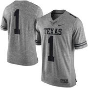 Men's Nike Heather Gray Texas Longhorns Gridiron Gray Limited Football Jersey