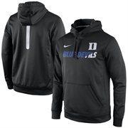 Men's Nike Black Duke Blue Devils 2015 Sideline KO Fleece Therma-FIT Performance Hoodie