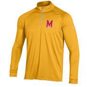 Men's Under Armour Gold Maryland Terrapins 1/4 Zip Performance Top