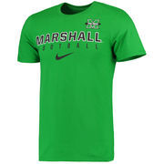 Men's Nike Kelly Green Marshall Thundering Herd Facility Sideline T-Shirt