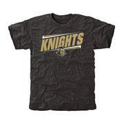 Men's Black UCF Knights Double Bar Tri-Blend T-Shirt