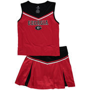 Girls Youth Colosseum Red Georgia Bulldogs Aerial Cheer Set