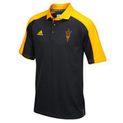 Men's adidas Black/Gold Arizona State Sun Devils 2016 Football Coaches Sideline climalite Polo
