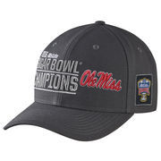 Men's Nike Anthracite Ole Miss Rebels 2016 Sugar Bowl Champions Coaches Locker Room Adjustable Hat