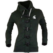 Women's Renu Green Michigan State Spartans Nantucket Toggle Zip Jacket