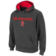Men's Stadium Athletic Charcoal San Diego State Aztecs Arch & Logo Pullover Hoodie