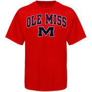 Men's New Agenda Red Ole Miss Rebels Arch Over Logo T-Shirt