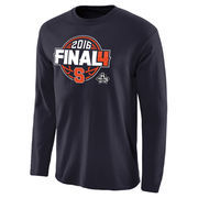 Men's Navy Syracuse Orange 2016 NCAA Men's Basketball Tournament Final Four Bound Charge Long Sleeve T-Shirt