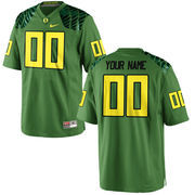 Men's Oregon Ducks Nike Apple Green Alternate Custom Game Football Jersey