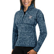 Women's Antigua Navy Butler Bulldogs Fortune 1/2-Zip Pullover Sweater