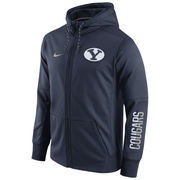 Men's Nike Navy BYU Cougars Circuit Full-Zip Performance Hoodie