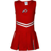Utah Utes Youth Girls Cheerleader Dress - Red