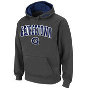 Men's Stadium Athletic Charcoal Georgetown Hoyas Arch & Logo Pullover Hoodie