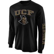 Mens UCF Knights Black Arch & Logo Long Sleeve T-Shirt