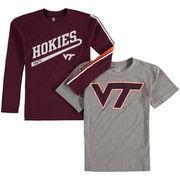 Preschool Heathered Gray/Maroon Virginia Tech Hokies Squad Combo Pack T-Shirts