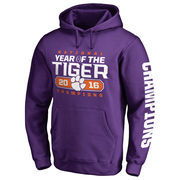 Men's Fanatics Branded Purple Clemson Tigers College Football Playoff 2016 National Champions Play Action Pullover Hoodie