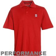 Mens NC State Wolfpack Cutter & Buck Red DryTec Championship Polo