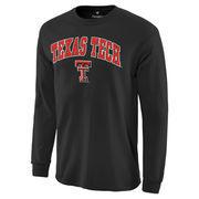 Men's Black Texas Tech Red Raiders Campus Long Sleeve T-Shirt