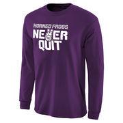 Men's Purple TCU Horned Frogs Never Quit Long Sleeve T-Shirt