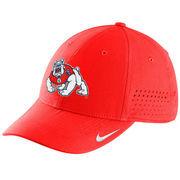 Men's Nike Red Fresno State Bulldogs Sideline Swoosh Performance Flex Hat