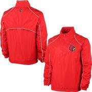 Mens Louisville Cardinals Red Big & Tall 1/4 Zip Wind Jacket