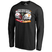 Men's Fanatics Branded Black Nebraska Cornhuskers vs. Tennessee Volunteers 2016 Music City Bowl Motion Matchup Long Sleeve T-Shi