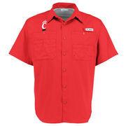 Men's Columbia Red Cincinnati Bearcats Tamiami PFG Button-Down Shirt