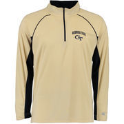 Men's Colosseum Navy GA Tech Yellow Jackets Lineman 1/4 Zip Jacket