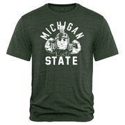 Men's Green Michigan State Spartans Hometown Collection Sparty Flex 2 Tri-Blend T-Shirt