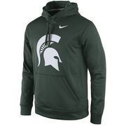Men's Nike Green Michigan State Spartans Practice Performance Hoodie