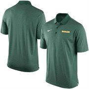 Men's Nike Green Baylor Bears Stadium Stripe Performance Polo