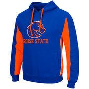 Men's Colosseum Royal/Orange Boise State Broncos Thriller II Pullover Hoodie