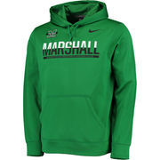 Men's Nike Kelly Green Marshall Thundering Herd KO Therma-Fit Full-Zip Hoodie