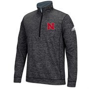 Men's adidas Black Nebraska Cornhuskers Tech 1/4-Zip climawarm Jacket
